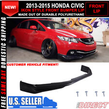 13-15 Honda Civic 4 Door Sedan Ikon Style Front Bumper Lip (Usdm Model)