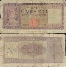 500 LIRE ORNATA DI SPIGHE DEC.23 MARZO 1961