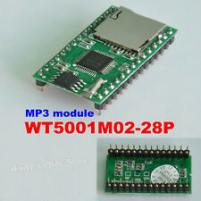 WT5001M02-28P U-disk Audio Player SD Card Voice Module MP3 Sound Módulo Arduino