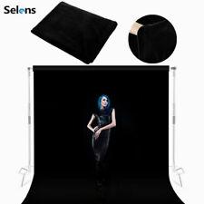 Photography Background Cloth Velvet Velour Fabric No-Pleat Screen Backdrop Black