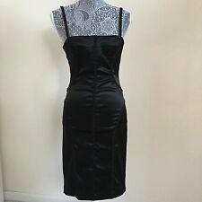 Just Cavalli Roberto Cavalli Satin Black Bustier Corset Dress Sz 40 4