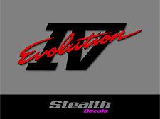 Mitsubishi Lancer EVOLUTION IV 4 Tailgate rear sticker/ decal Premium Quality