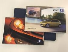 PEUGEOT 206 OWNERS PACK / HANDBOOK COMPLETE WITH WALLET 2003~2009 (2004)