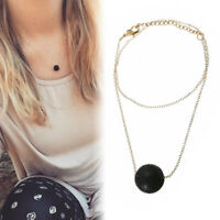Essential Oil Diffuser Aromatherapy Triangle Ball Lava Bead Stone Necklace Gift