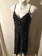 Abercrombie Fitch Womens Black Dress Sundress Stretch Back Washable Straps M