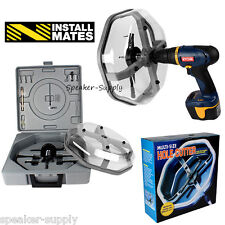 """InstallMates Multi Size Hole Cutter Saw w/ Dust Bowl Up to 10-1/4"""" Kit NSM1042"""