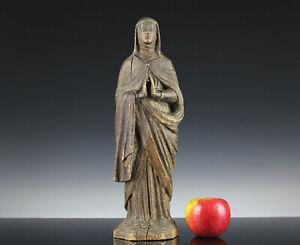 Madonna Süddeutsch Lindenholz 18. Jahrhundert geschnitzt