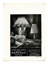 1940 / Publicité pour LAMPE GERFAUX / ECLAIRAGE ET LUMINAIRE / FRLD137