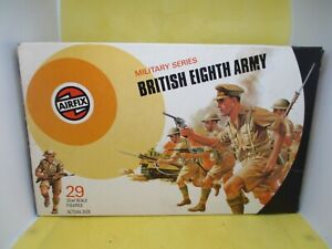 VINTAGE AIRFIX 1/32 BRITISH EIGHTH ARMY BOXED NEAR MINT CONDITION