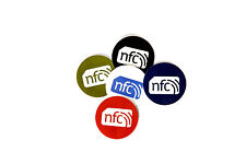Colour NFC Stickers Tags  30mm Round: NTAG213 : Android Windows Samsung HTC Sony
