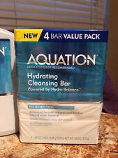 AQUATION Hydrating Cleansing Bar Soap 4.5 Oz  Fragrance Free Value Pack 12 Bars