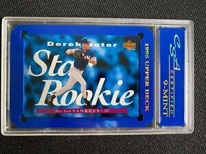 1995 Upper Deck #225 Derek Jeter CSA CERTIFIED Graded Mint 9 Star Rookie