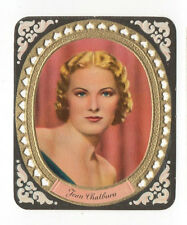 Jean Chatburn 1936 Garbaty Film Star Embossed Die-cut Cigarette Card #6