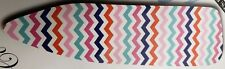 """Padded Ironing Board Cover and Pad, (for 54"""" boards) Multicolor Zigzags by Bh"""