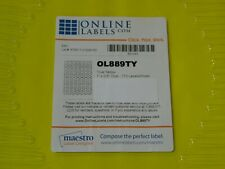 Product Ol889ty True Yellow 1 X 05 Small Oval Labels 1680 Label 15 Sheets