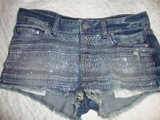 Victoria's Secret Love Pink super bling glitz soft jean shorts 5 pockets size 10