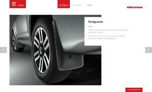2011-2019 Toyota 4Runner Mudguard Kit PT769-89110 Genuine OEM 4 Pc Set Mud Flaps