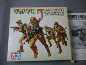 Tamiya 108 100 Miniatures German Africa Korps Infantry Model Kit 1:3 5 (K52)