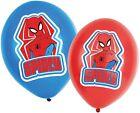 Amscan Spiderman Ballons Gonflables ( 6 Pièce, Rouge & Bleu) Marvel Spider-Man