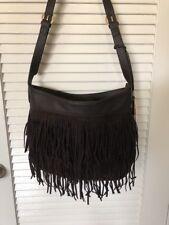 """WOW""nwt $120 Urban Orginals Brown Fringe Handbag Purse"