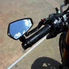 "Black Motorcycle Universal Billet Aluminum 7/8"" 22 Bar End Side Rearview Mirrors"