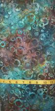 Cantik Batik Inspirations - Large Bubbles in Copper Blue - 1026-150 1/2 yd