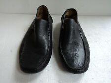 623f18bf962 Saks Fifth Avenue Mens 9M Slip On Driving Loafers Black Leather Shoes
