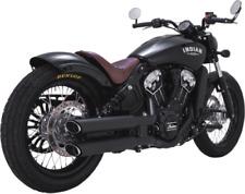 Vance & Hines Twin Slash Slip-Ons for Indian Matte Black 48623