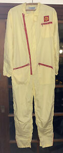 RARE SHELL GAS STATION YELLOW JUMPSUIT MECHANIC PIT CREW UNIFORM FOUND IN HAWAI