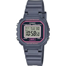 Casio LA20WH-8A, Digital Chronograph Watch, Gray Resin Band, Alarm