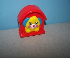 1996 Fisher-Price / Sankyo Puppy Dog in House Push Squeaker Mcdonald's Play Toy