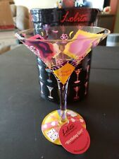Lolita Martini Glass Hand Painted Birthday Girl 7 Oz with Recipe