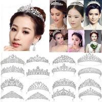 Bridal Rhinestone Pearl Crystal Hair Princess Tiaras Wedding Crown Headband