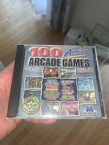 Vintage 100 Action Arcade Games ~ Compatible With Win 98 ~ Volume 4 CD