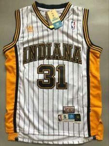 Men's Reggie Miller Indiana Pacers Throwback Swingman Jersey White Size S-XXL