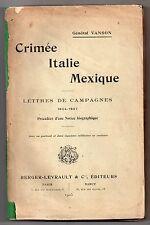 GENERAL VANSON KRIEGE KRIM ITALIEN MEXIKO ENTSPRECHUNG 1854-67 EO 1905