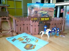 playmobil 3773 fort bravo western cowboy indians confederate with box