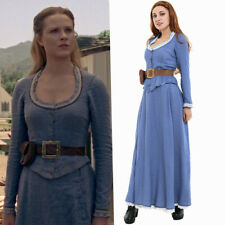Westworld Dolores Abernathy Blue Dresses Cosplay Costume Fancy Dress Fullset