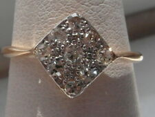 81M Ladies 9ct Art Deco Diamond set ring size K
