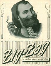 Publicité ancienne papier à cigarettes Zig-Zag 1909 issue de magazine
