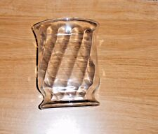 COLONY CRAFTS CANDLE ACCENTS CANDLE HOLDER OR VASE CLEAR GLASS