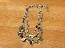 "Uno de 50 Silvertone Beads/Charms/Multi-Color Crystal Necklace-""Scuba Diver"""
