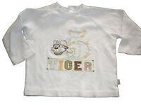 Hübsches Langarm Shirt Gr. 74 weiß mit Tiger Applikation !!