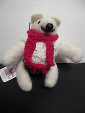 Felt Polar Bear Christmas Tree Ornament Holiday Decoration 5""