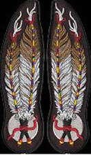 LARGE FEATHER PATCHES (PAIR) - native american style biker vintage southwestern