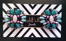 Statement Fashion Colorful Earrings Spring Summer Pink Teal Gray Colors