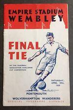 1939 FA CUP FINAL PROGRAMME:- Portsmouth v Wolves