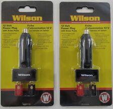 2 Lot Wilson Antennas 30512Vpp 12V Cigarette Lighter Power Plug 2 Binding Posts