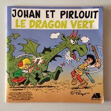 LIVRE DISQUE 45T JOHAN ET PIRLOUIT LE DRAGON VERT - PEYO