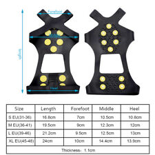 Snow Ice Climbing Anti Slip Boots Shoes Spikes Grips Cleats Backpack Rain Cover